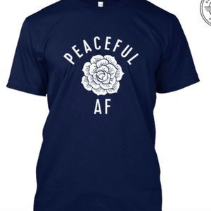 Peaceful Af Gildan Women's Tee T-Shirt Navy